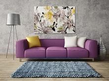 Wiśniowy sad - nowoczesny obraz do sypialni