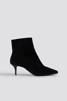 Trendyol Kozaki Hakaki Leather - Black
