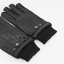 Rękawiczki z owczej skóry - Czarny