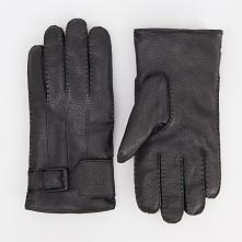 Skórzane rękawiczki - Czarny