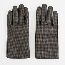 Skórzane rękawiczki - Szary