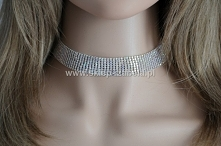 Biżuteria, choker, obroża z kryształkami AB