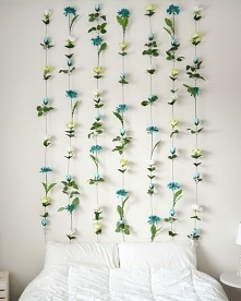 kwiatowa ścianka