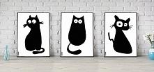 """Zestaw 3 Plakatów """"Kot..."""