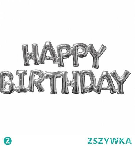 Piątek, piąteczek, piątunio:) Wcale nie jest nam smutno z tego powodu:)  Kto szykuje urodziny?  Napis Happy Birthday wykonany ze srebrnych balonów. W zestawie znajduje się słomka do napełnienia powietrzem.   Napis można przymocować za pomocą taśmy dwustronnej do ściany lub powiesić na załączonej do zestawu wstążce.  Nie unosi się nawet po napełnieniu helem.  Miłego weekendu:) a solenizantom Wszystkiego Naj Naj:)   ##balonykraków #niczchin