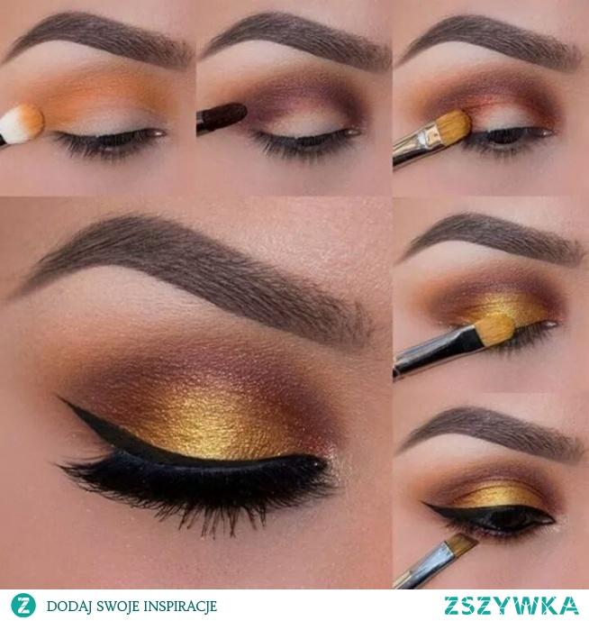 make up w odcieniu złota