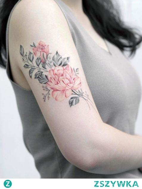 Delikatne Kwiaty Na Ramieniu Na Tatuaże Zszywkapl