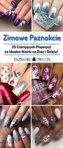 TOP 25 Czarujących Propozycji na Zimowe Paznokcie – Idealne Wzorki na Zimę i Święta!