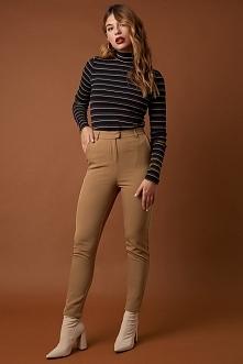 NA-KD Classic Dopasowane spodnie garniturowe - Brown