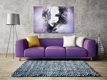 Dusza z antracytu we fioletach - nowoczesny obraz na płótnie