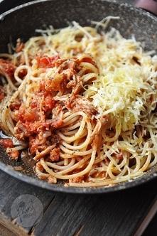 Spaghetti z szarpaną wieprz...