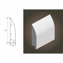 Biała listwa przypodłogowa Soft 100 Lagrus to model wykonany z materiału MDF. Listwa przypodłogowa biała polakierowana 3 warstwami. Model listwy Soft 100 jest gładki z subtelnym...