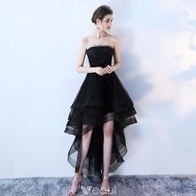 Uroczy Czarne Sukienki Kokt...