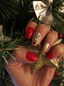 Święta tuż tuż ..... czerwień w połączeniu ze złotym pięknie