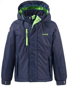 Kamik Kurtka Narciarska Hunter Solid Peacoat 116 Blue/Green