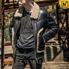 Christmas Gifts | CWMALLS® Rome Custom Retro Shearling Bomber Jacket CW808318...