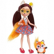 Lalka Enchantimals Felicity Fox ze zwierzątkiem DVH87/DVH89 DVH87/DVH89