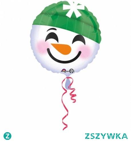 Bałwan w domu bez śniegu ... Hmmm...  Okrągły snowmen 43 cm - balon Bałwan napełniony helem do odbioru osobistego w Krakowie aż w 2 miejscach:), lub bez helu wysyłany pocztą.   Gdyby w Święta Bożego Narodzenia nie było śniegu, bałwan zawsze będzie, przynajmniej jego fragment:)   Zamawiając wybierz opcję z boku: sam balon czy balon wypełniony helem.