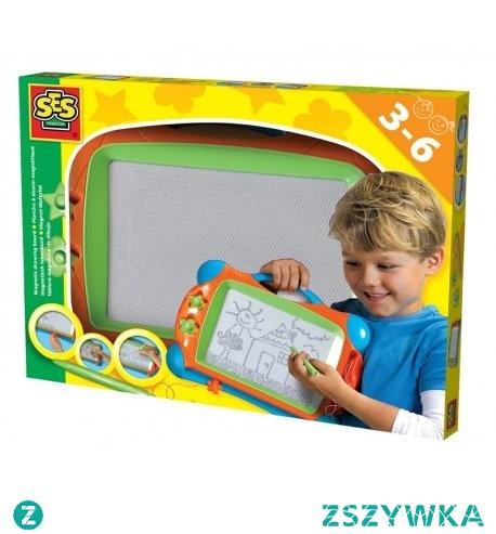 Witajcie, będzie kreatywnie i znikająco:)  Tablica magnetyczna znikopis ze stempelkami dla dzieci od lat 3 od SES Creative.  Zestaw dla małych artystów, do rysowania z piórkiem, z suwakiem do ścierania oraz 2 stempelkami.  W razie pomyłki można wytrzeć:)   Świetny sposób na rozwijanie kreatywności i koordynacji wzrokowo-ruchowej u dzieci.