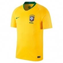 Koszulka krótki rękaw do piłki nożnej Brazylia dla dzieci