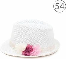 Kapelusz dziecięcy Florystka biało różowy r. 54