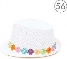 Kapelusz dziecięcy Kolorowa łąka biały r. 56
