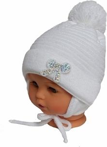 Czapka niemowlęca z szalikiem CZ+S 009A
