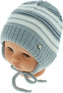 czapka niemowlęca podszyta bawełną cz-059D