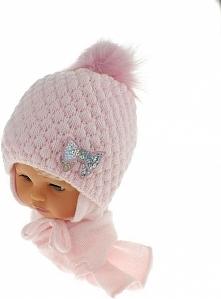 Czapka niemowlęca z szalikiem CZ+S 123B