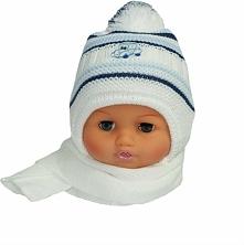 Czapka niemowlęca z szalikiem CZ+S 154E