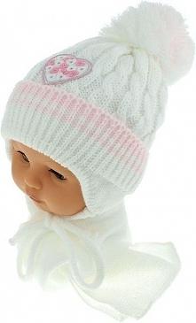 Czapka niemowlęca z szalikiem CZ+S 149A