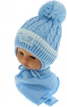 Czapka niemowlęca z szalikiem CZ+S 150D