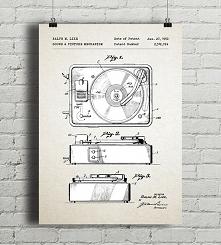 Gramofon - patent - plakat vintage