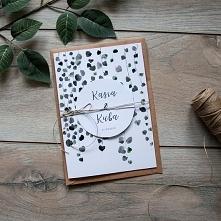Zaproszenia ślubne - Akwarelowa roślinka A5