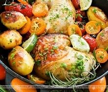 Udka z kurczaka duszone z warzywami