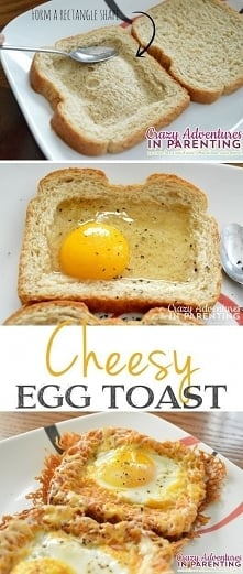 Chleb tostowy z jajkiem i ż...