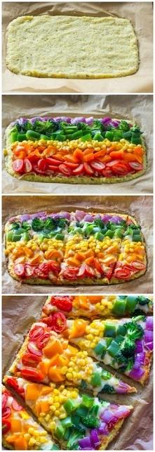 Warzywna pizza na kalafioro...