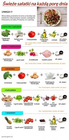 Sałatki na każdą porę dnia, poniżej znajdziecie przepisy na lekkie i pyszne sałatki. A Wy co lubicie? :-) #sałatki #lekkiesałatki #zdrowesałatki #zdrowie #fit #pysznesałatki