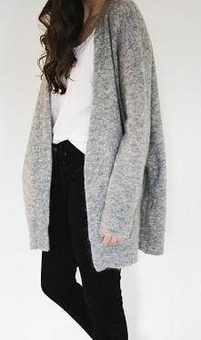 szarości , cudny sweter :)