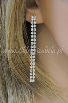 Kolczyki, biżuteria klasyczna z kryształkami