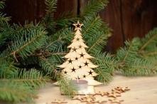 Choinka klasyczna.  Choinka klasyczna do zawieszenia, doskonała na drobny upominek lub jako bożonarodzeniowa ozdoba. Może być wykorzystana również do przewiązania na butelce win...