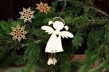 Aniołek wiszący #1 z wycięt...