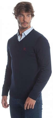 Polo Club C.H..A Sweter Męski Xl Ciemnoniebieski