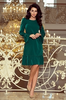 Zielona trapezowa sukienka ...