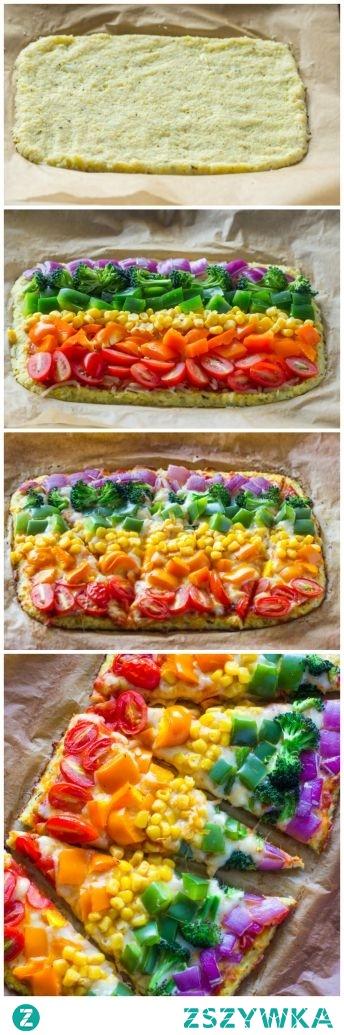 Warzywna pizza na kalafiorowym spodzie Przepis-link