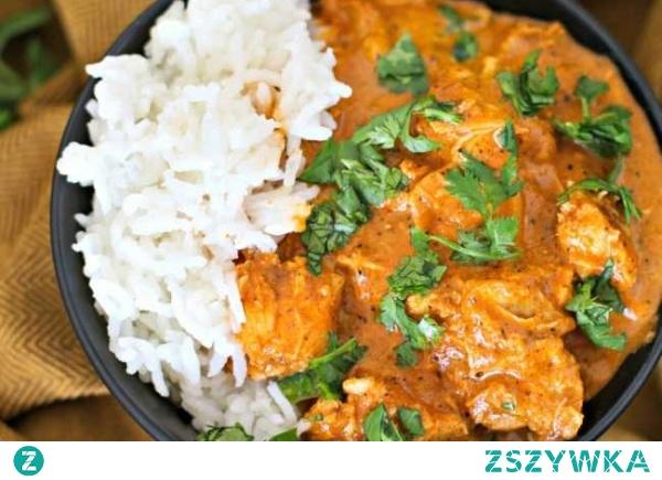 Kurczak tikka masala – czyli pyszne danie w indyjskim stylu.