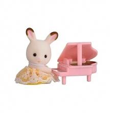 Sylvanian Families Przenośny zestaw dla dziecka (królik z pianinem) 5202