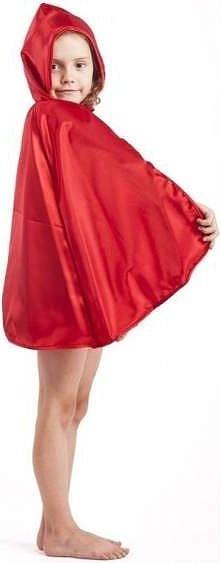 Peleryna z atłasu z kapturem czerwona - przebrania / kostiumy dla dzieci, odg...