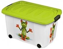 Jelenia Plast Plastikowy Box Z Kółkami Żaba 45 L