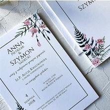 """Zaproszenie ślubne - """"Różowe goździki"""""""